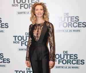 """Alexandra Lamy sur le tapis rouge de """"De toutes nos forces"""", le 17 mars 2014 à Paris"""