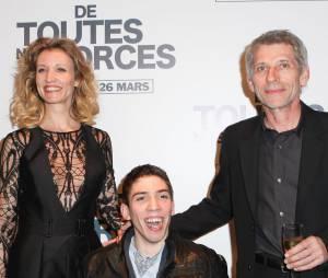 """Alexandra Lamy, Jacques Gamblin et Fabien Héraud à l'avant-première de """"De toutes nos forces"""", le 17 mars 2014 à Paris"""