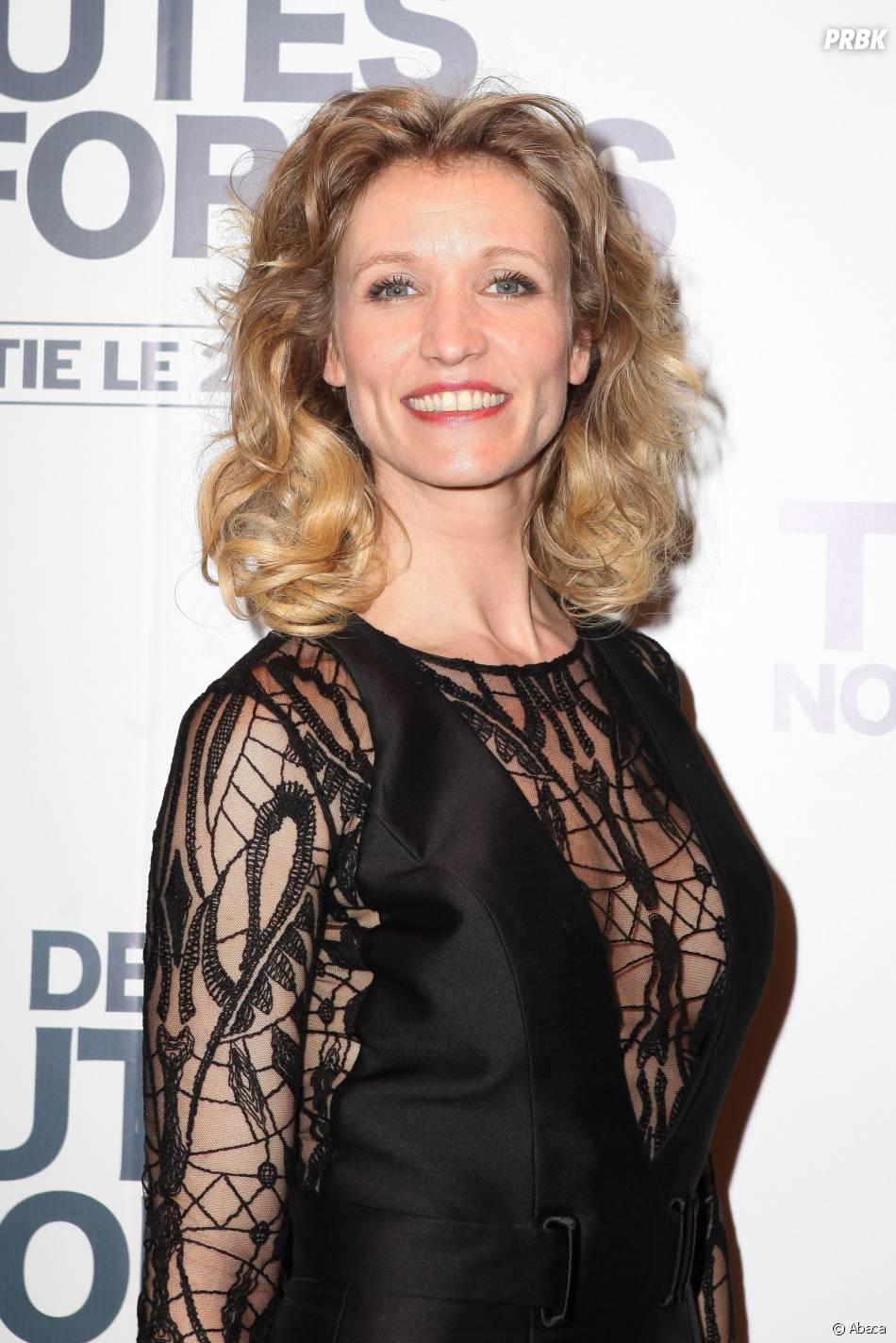 """Alexandra Lamy en mode dentelle à l'avant-première de """"De toutes nos forces"""", le 17 mars 2014 à Paris"""