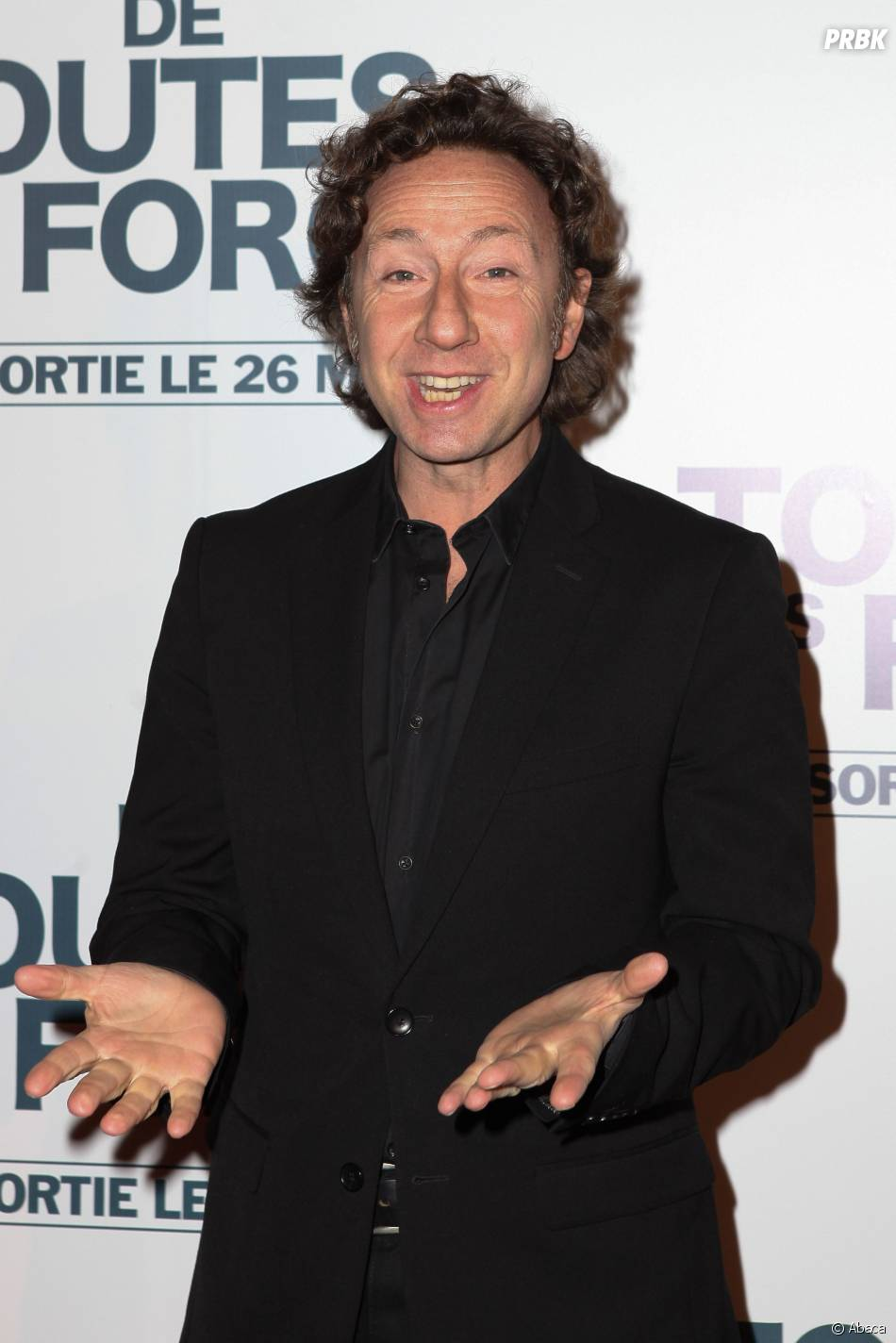 """Stéphane Bern à l'avant-première de """"De toutes nos forces"""", le 17 mars 2014 à Paris"""