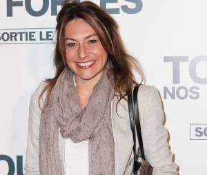 """Shirley Bousquet sur le tapis rouge de """"De toutes nos forces"""", le 17 mars 2014 à Paris"""