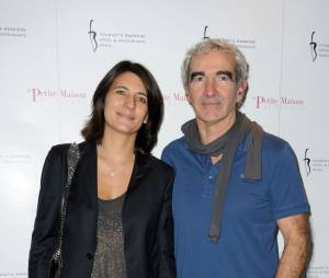 Estelle Denis et Raymond Domenech à l'ouverture du restaurent La Petite Maison de Nicole, le 21 janvier 2013
