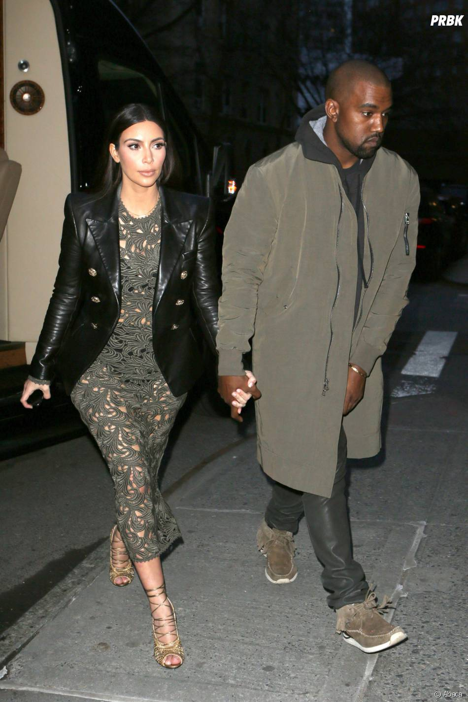 Kim Kardashian et Kanye West pour un dîner avec Anna Wintour à New-York, le 25 mars 2014