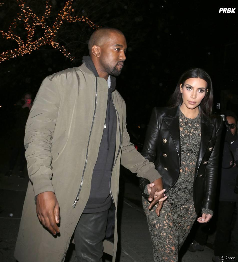 Kim Kardashian et Kanye West : futurs mariés main dans la main à New-York, le 25 mars 2014