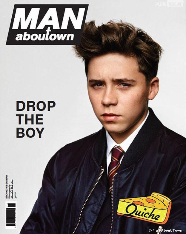 Brooklyn Beckham sur la couverture du magazine Man About Town.