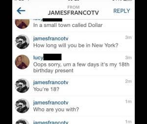 James Franco : sur Instagram, il drague une jeune fille mineure... pour la promo de Palo Alto ?