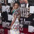Lupita Nyong'o sur le tapis rouge des MTV Movie Awards 2014, le 13 avril à Los Angeles