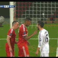 Franck Ribéry se lâche et donne une gifle pendant Bayern Munich VS Real Madrid