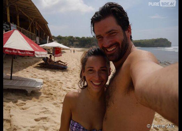 Alix et Paul en vacances après le Bachelor 2014