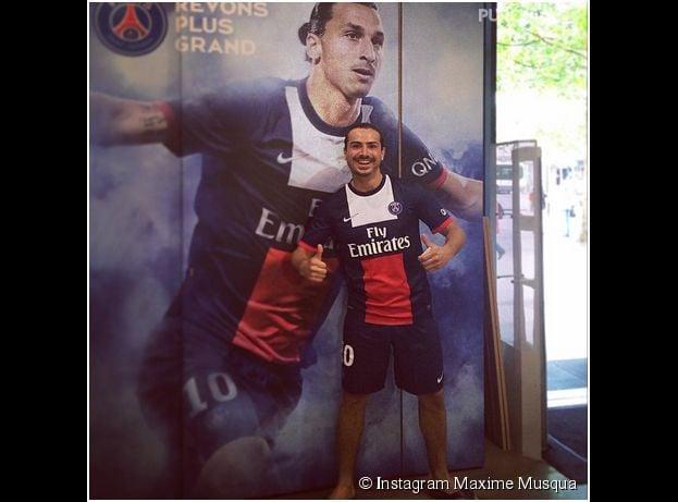 Maxime Musqua se prend pour Zlatan Ibrahimovic dans Le Petit Journal, le 7 mai 2014