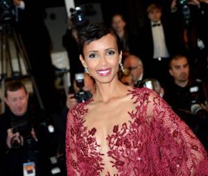Sonia Rolland en robe longue et décolletée Zuhair Murad au Festival de Cannes 2014, le 15 mai