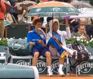 Novak Djokovic a fait le show à Roland Garros, le 26 mai 2014