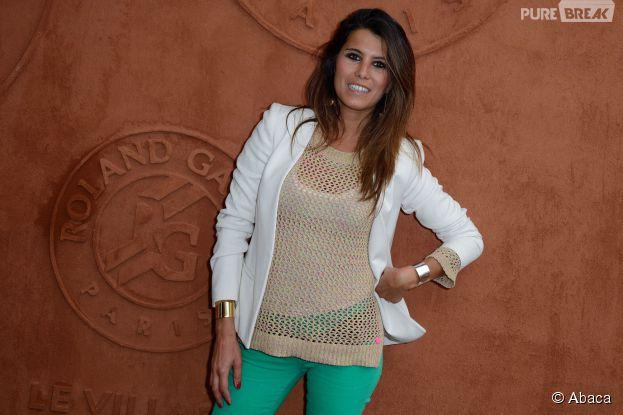 Karine Ferri au village Roland Garros le 26 mai 2014
