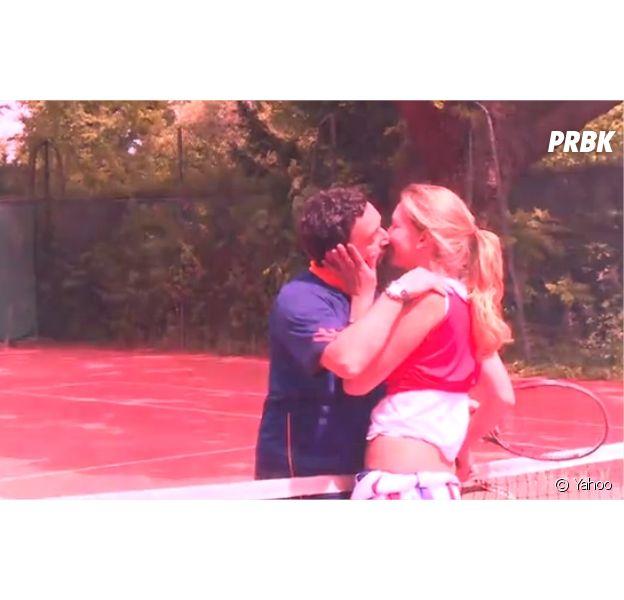Tatiana Golovin VS Cyril Hanouna : smack complice après un match de tennis