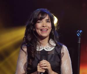 Indila lors du concert V.I.P spécial anniversaire de RFM aux Folies Bergères à Paris, le 16 juin