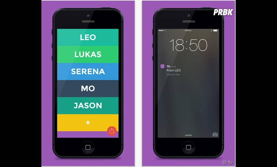 """Yo : une application qui ne permet que d'envoyer des """"Yo"""" à ses contacts cartonne sur smartphones"""