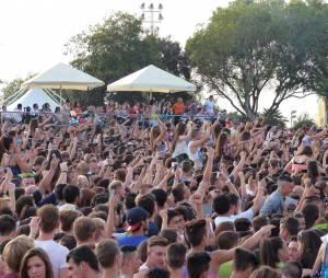 Le public du festival Isle of MTV à Malte, le 25 juin 2014