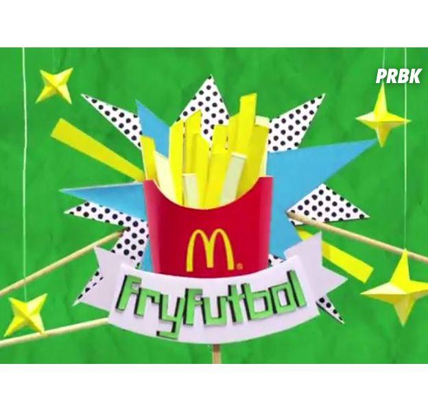 McDonald's rejoue les matchs de la Coupe du Monde 2014 avec ses frites