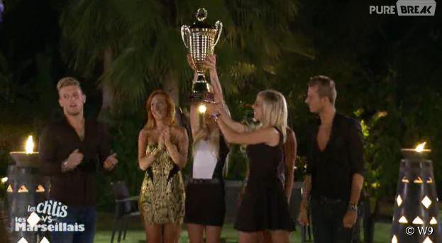Les Ch'tis gagnent le trophée dans Les Ch'tis VS Les Marseillais