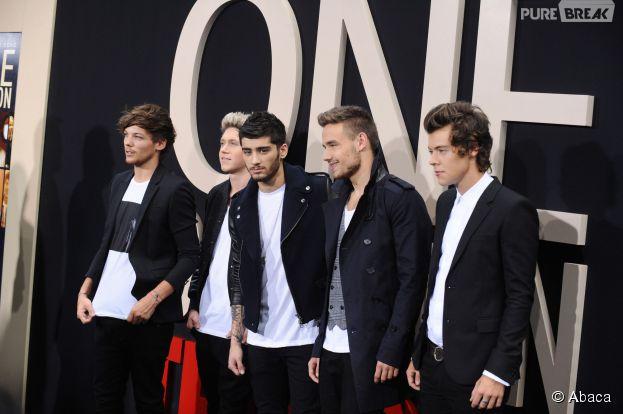 One Direction à l'avant-première de leur docu 3D This Is Us, en août 2013