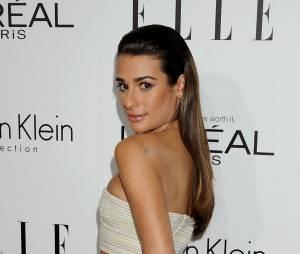 Lea Michele prend la pose à la soirée Elle, à Los Angeles le 21 octobre 2013