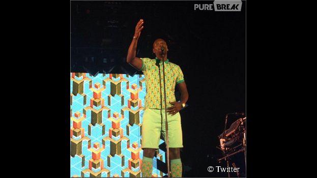 Omar Sy déguisé en Stromae version Doudou Stromae aux Arènes de Nimes, le 24 juillet 2014