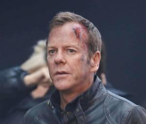 24 heures chrono saison 9 : Kiefer Sutherland sur le tournage, le 22 janvier 2014 à Londres