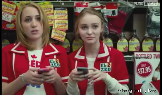 Vanessa Paradis et Johnny Depp : leur fille Lily Rose (droite) dans le film Tusk
