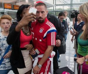 Franck Ribéry barbu, pendant la finale de la Telekom Cup 2014 à Hambourg, le 27 juillet 2014