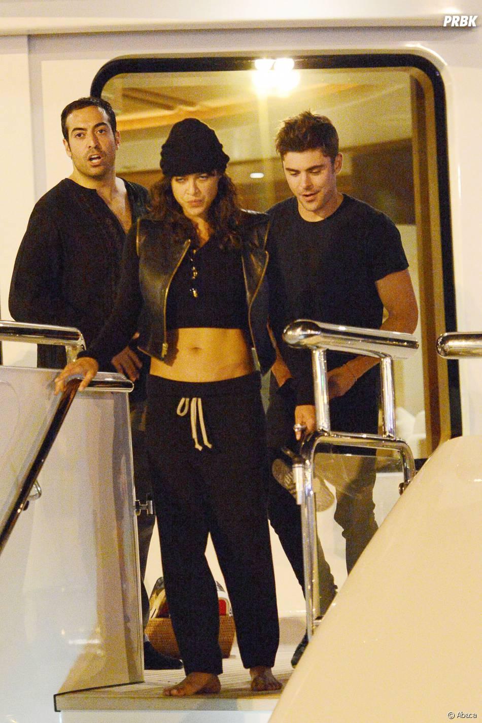 Zac Efron et Michelle Rodriguez ensemble à Ibiza, le 1er août 2014