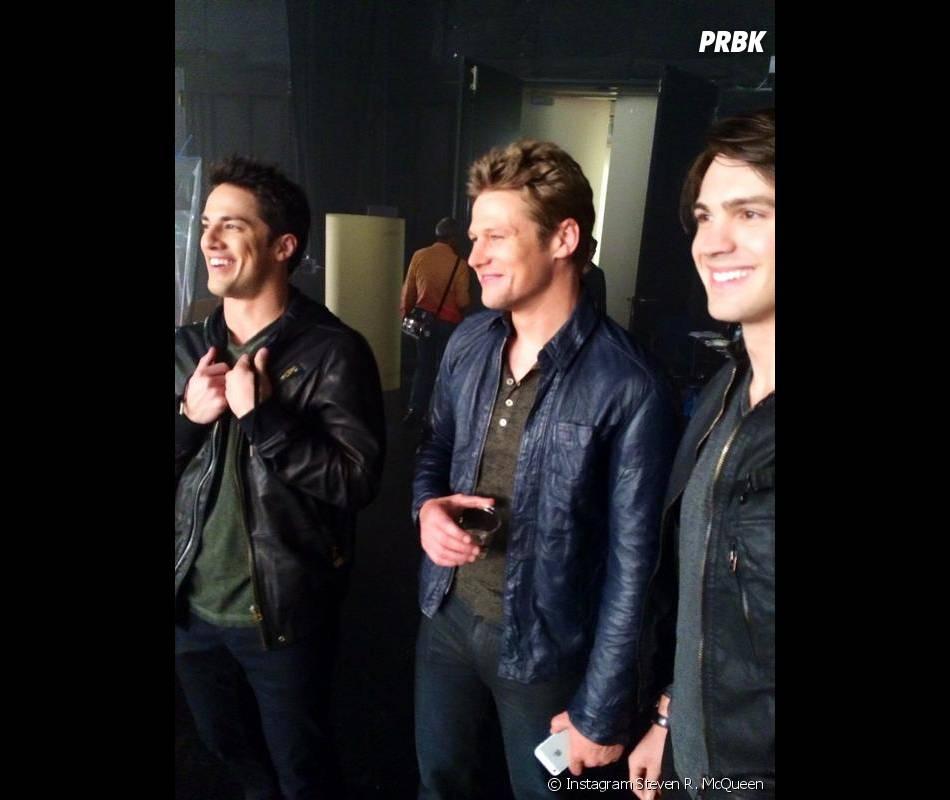 Michael Trevino, Zach Roerig et Steven R. McQueen lors d'une séance photo pour la saison 6 de Vampire Diaries
