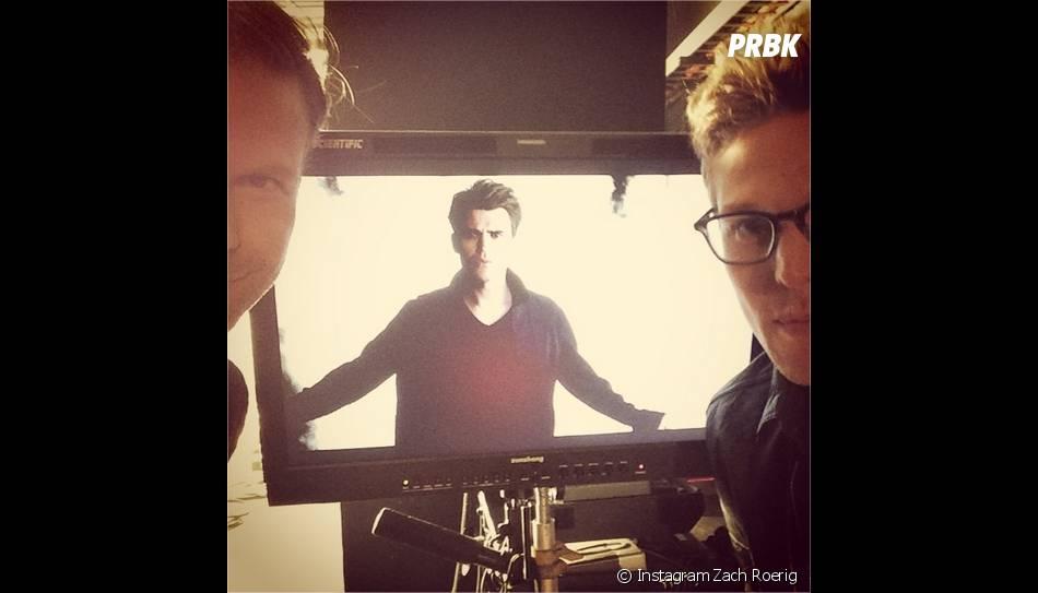 Matt Davis, Zach Roerig et Paul Wesley lors d'une séance photo pour la saison 6 de Vampire Diaries
