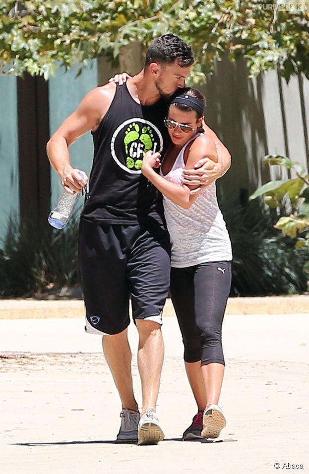 Lea Michele et Matthew Paetz : bisou à Los Angeles, le 5 août 2014