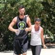 Lea Michele et Matthew Paetz en amoureux à Los Angeles, le 5 août 2014