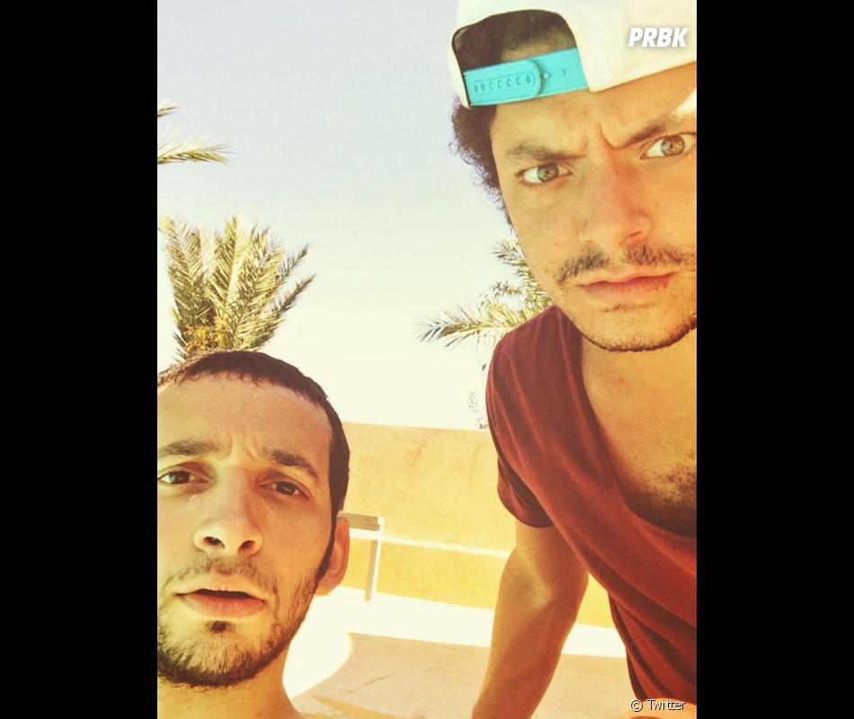 Kev Adams et William Lebghil en tournage au Maroc pour Les Nouvelles Aventures d'Aladin