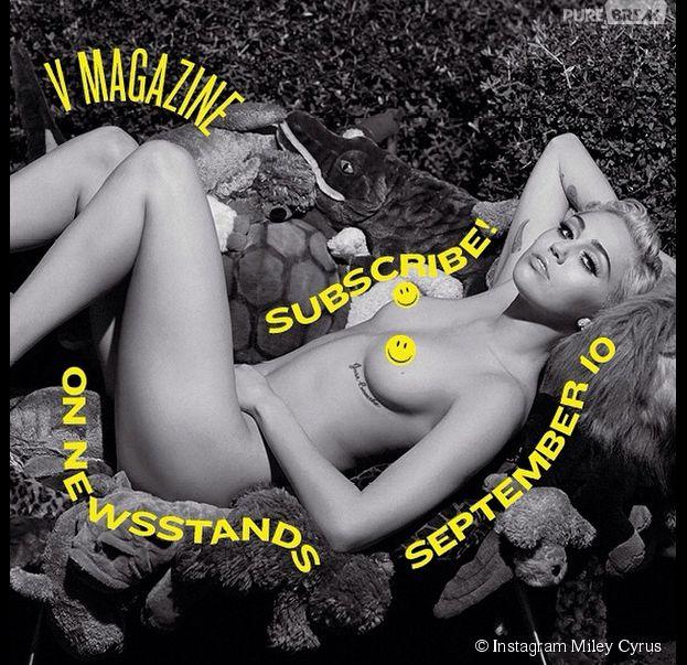Miley Cyrus se met à nue pour Karl Lagerfeld