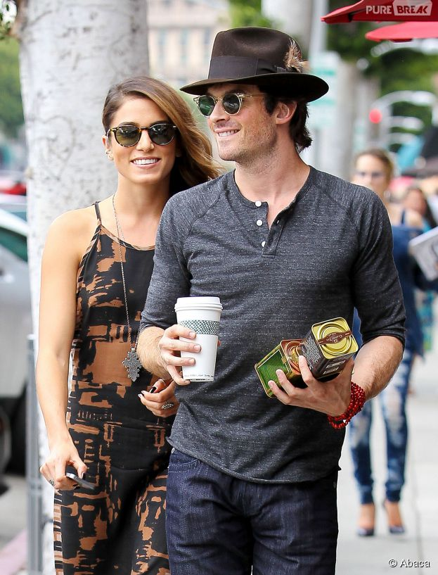 Ian Somerhalder et Nikki Reed amoureux à Los Angeles le 8 septembre 2014