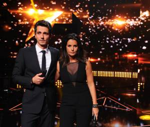 Rising Star : Guillaume Pley et Faustine Bollaert pour l'avant première de l'émission, le 15 septembre 2014