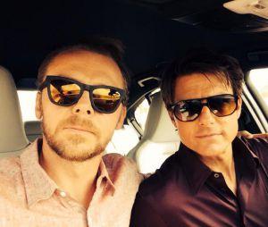 Mission Impossible 5 : Simon Pegg et Tom Cruise sur le tournage