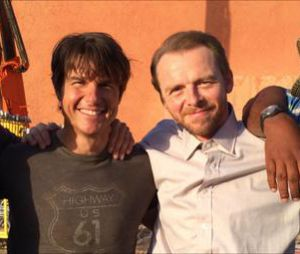 Mission Impossible 5 : Jeremy Renner, Tom Cruise, Simon Pegg et Vingh Rhames sur le tournage