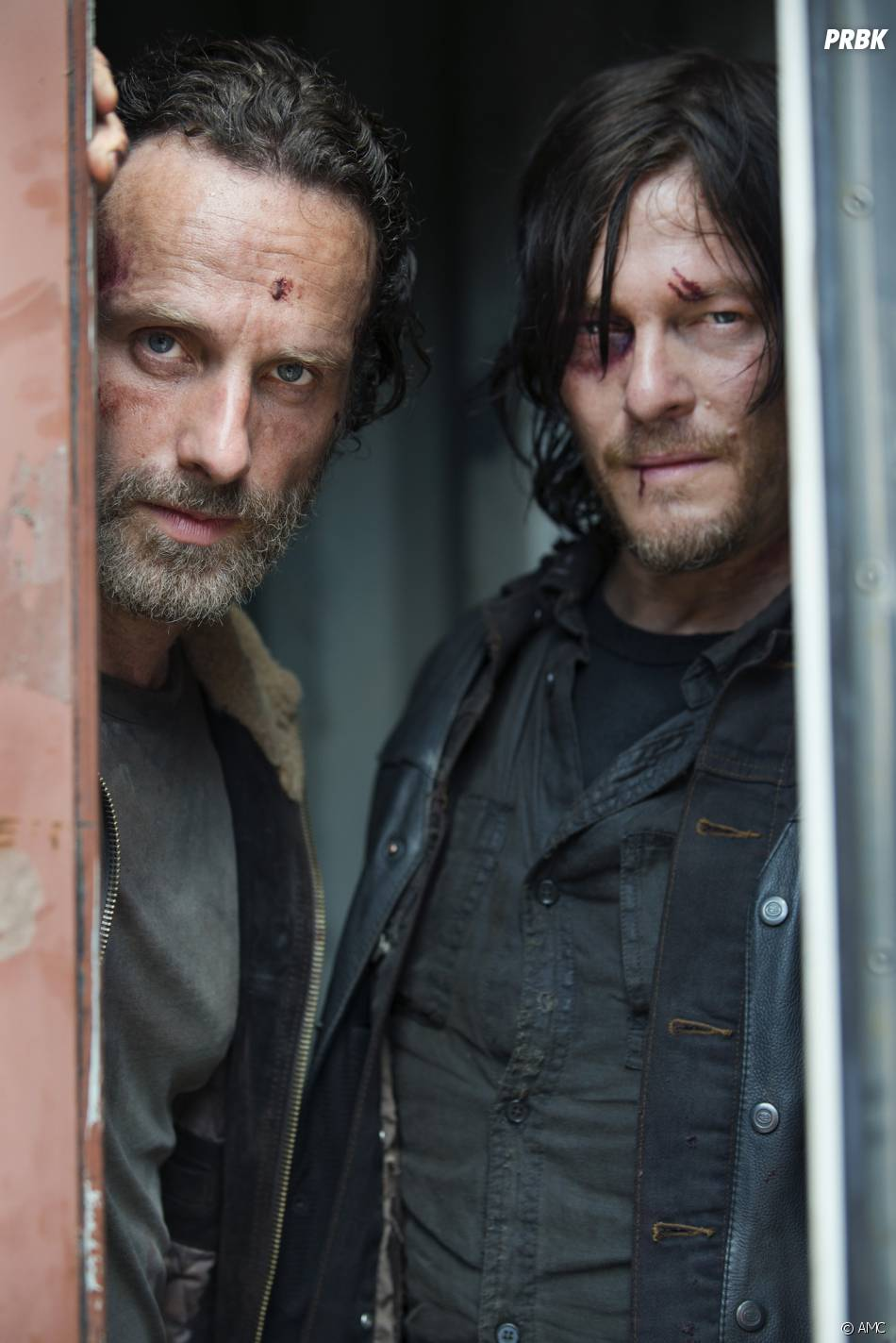 The Walking Dead : Andrew Lincoln et Norman Reedus sur une photo de la saison 5