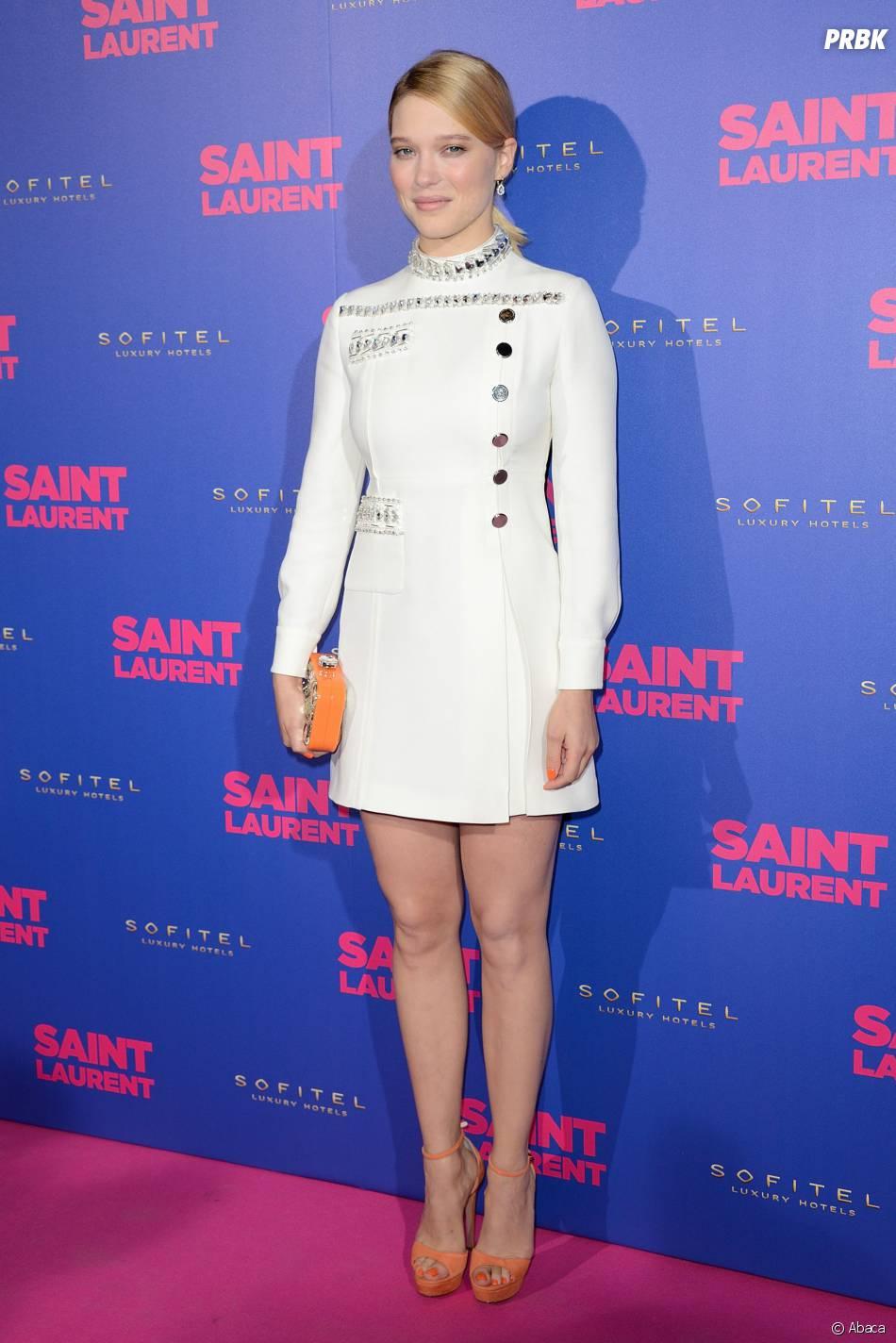 Léa Seydoux à l'avant-première de Saint Laurent, le 23 septembre 2014 à Paris