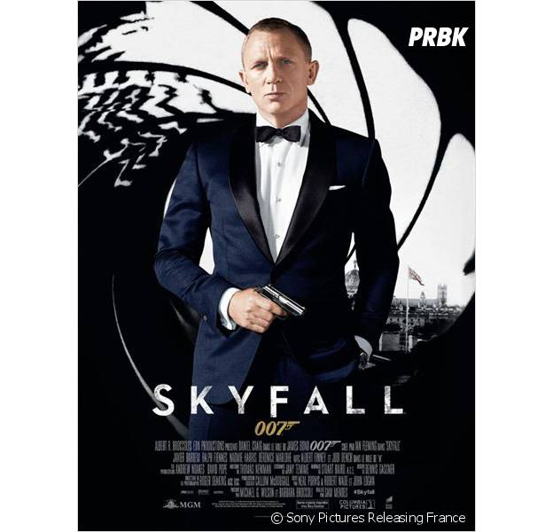 James Bond : Daniel Craig sur l'affiche de Skyfall