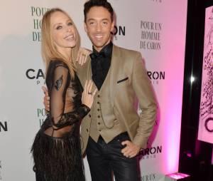 Tonya Kinzinger et Maxime Dereymez à la soirée Caron, le 9 octobre 2014 à Paris