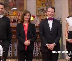 Cousu Main : Adelino, Carmen et Séverine en finale de l'émission présentée par Cristina Cordula, le 14 octobre 2014 sur M6