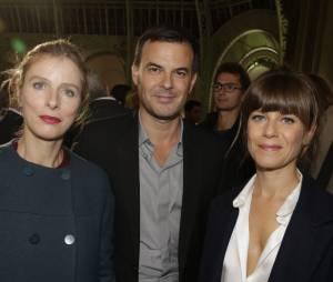 Karine Viard, François Ozon et Marina Foïs au lancement de la FIAC 2014, le 22 octobre au Grand Palais
