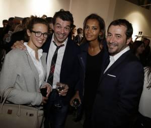 Lorie, Stéphane Plaza, Karine Le Marchand et Bernard Montiel au lancement de la FIAC 2014, le 22 octobre au Grand Palais