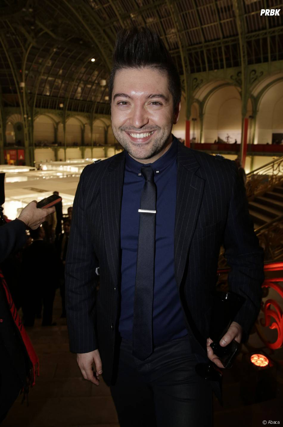 Chirs Marques (DALS) au lancement de la FIAC 2014, le 22 octobre au Grand Palais