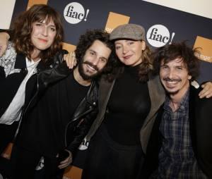 Daphné Bürki, Gunther Love, Julie Ferrier et Arnaud Tsamère au lancement de la FIAC 2014, le 22 octobre au Grand Palais