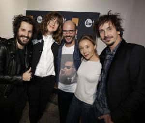 Gunther Love, Daphné Bürki, Cartman, Aurélia et Arnaud Tsamère au lancement de la FIAC 2014, le 22 octobre au Grand Palais
